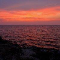 Закатный вечер. (Море Азовское) :: владимир