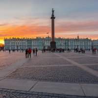 Закат на Дворцовой :: Александр Кислицын