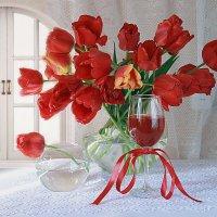 Утро с тюльпанами. :: alfina