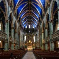 Собор Оттавской Богоматери (Нотр Дам, Канада), еще одна попытка отразить красоту... :: Юрий Поляков