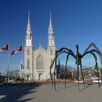 """Скульптура """"Маман"""" у входа в Национальную галерею Канады (за моей спиной) :: Юрий Поляков"""