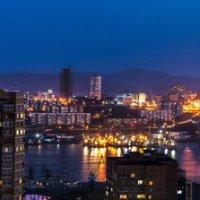 Ночная панорама бухты Золотой Рог :: Дмитрий