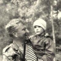 С папой. :: Александр Парамонов