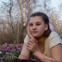 На цветастой лужайке... :: Владимир Деньгуб