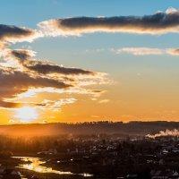 Закат над речкой... :: Анастасия Иванова
