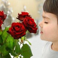 чудесный запах красных роз :: Lena