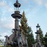 """Фонари в парке """"Кузьминки"""". :: Борис Иванов"""