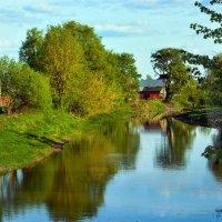 Вечерком на реке... :: Юрий