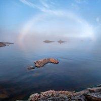 Туманная радуга, или подарок Ладожского озера. :: Фёдор. Лашков