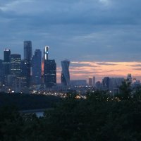 Москва -Сити в лучах заката. :: Larisa Ereshchenko