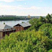 Вид на старые мельницы и Оку :: Андрей Головкин