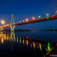 Муромский мост через Оку в ночь полной луны :: Сергей