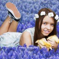 Младшая сестрёнка и мои малыши утята :: Ксения Кушнарёва