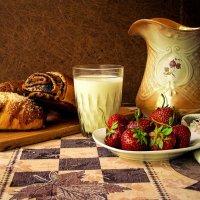 клубника и молоко :: Сергей