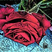 Роза, лежащая на капоте :: Нина Корешкова