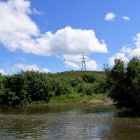 Облака над рекой. :: Прима Игорь Кондратьевич