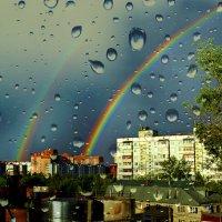 Вид из окна после грозы :: Елена Строганова