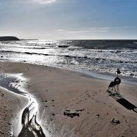 Рисунки моря на песке :: Марина