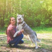 Девушка с собакой :: Сергей Черепанов