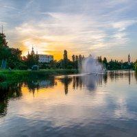 Летний вечер на реке Цне............... :: Александр Селезнев