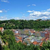 Вид из средневековой крепости на город Бургхаузен .... :: Galina Dzubina