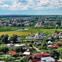 Вид на Суздаль с колокольни Ризоположенского женского монастыря :: АЛЕКСАНДР СУВОРОВ
