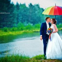 Зонтик. Озеро. Любовь :: Дмитрий Головин