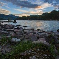 Закат,река Катунь :: Алексей