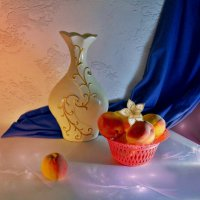 Персики и керамика :: Наталия Лыкова