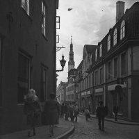 Таллинн 1985. Улица  Пикк, вид в сторону Ратуши. :: Odissey