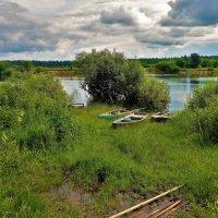 Рыбацкий стан на Мологе реке... :: Sergey Gordoff