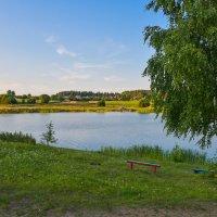 На берегу озера. :: юрий Амосов