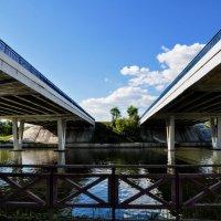 Мост через Борисовские пруды :: Анатолий Колосов