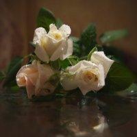 Розы на столе. Их аромат легчайше-невесомый... :: Людмила Богданова (Скачко)