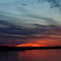 Закат над Обью :: Дмитрий Сиялов
