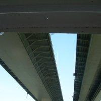 Геометрия Аксайского моста через реку Дон :: татьяна