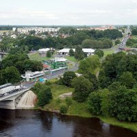 Ивангород и мост Дружбы :: Елена Павлова (Смолова)