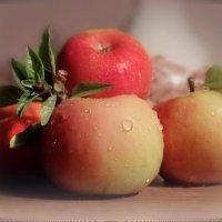 Наливное яблочко... Осени вино... Спелых яблок, сахарных золотистый сок... :: Людмила Богданова (Скачко)