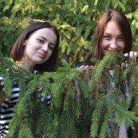 Девушки в парке :: Сергей Черепанов
