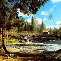 Водопад Ахвенкоски на реке Тохмайоки :: Алексей A