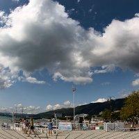 Вид центральной площади с облаками :: Валерий Дворников