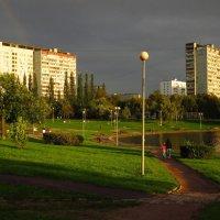 Радуга в подарок не испугавшемуся дождя :: Андрей Лукьянов