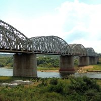 Железнодорожный мост Курского направления Московской железной дороги через реку Оку :: Александр Качалин