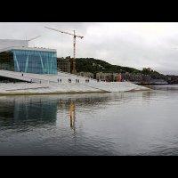 Вид на Осло-фьорд, Оперный театр и скульптуру «Возлежащая» :: Alex Sash
