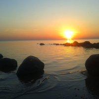 Закат на заливе :: Сапсан