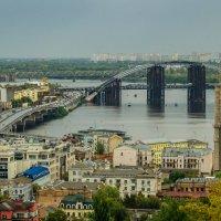 Вид от Андреевской церкви на Днепр в Киеве :: Наталья Лысенко