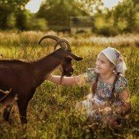 девочка с козой :: Наталья Владимировна Сидорова