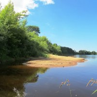 Пляж на реке :: Александр Михайлов