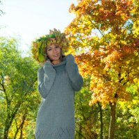 Прогулка в осеннем парке :: Albina