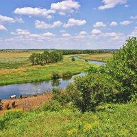 Вид на реку Кальмиус :: Андрей K.